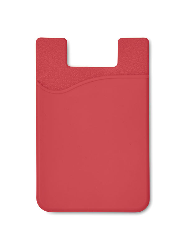 Reklamní Silikonový držák SILICARD červená