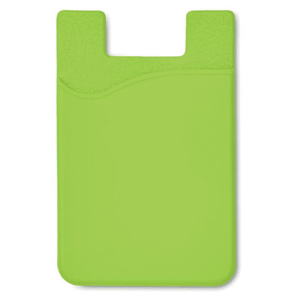 Reklamní silikonové pouzdro na karty SILICARD zelené