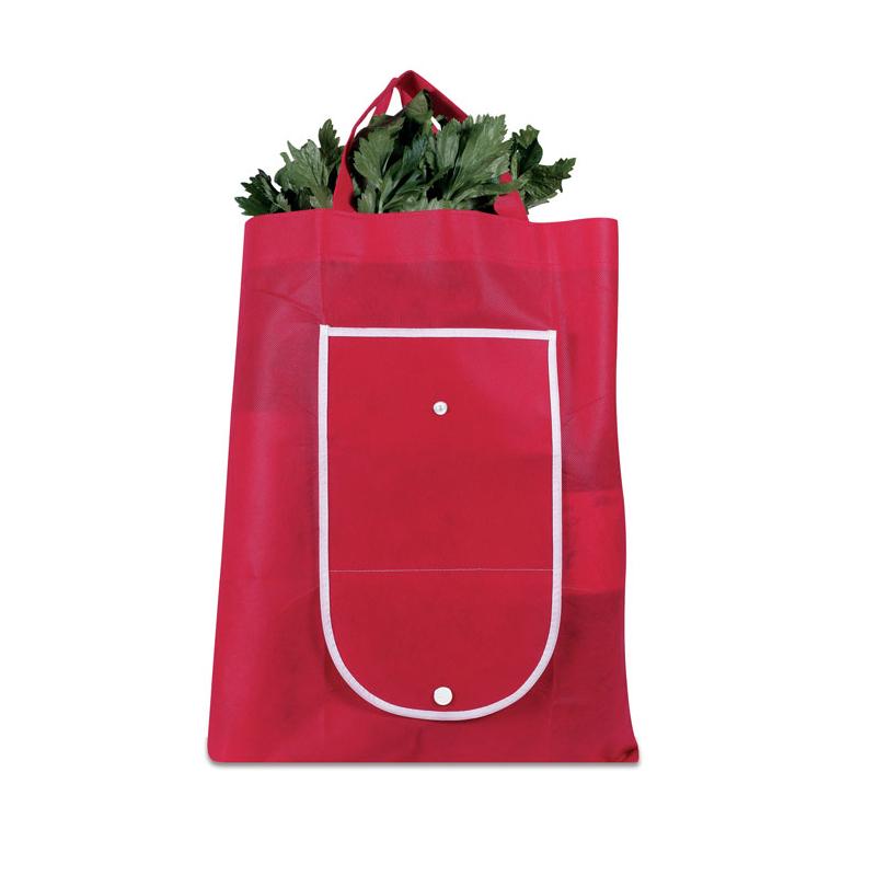 Reklamní Skládací nákupní taška FOLDY červená 2