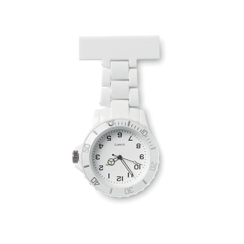 Reklamní hodinky analogové NURWATCH bílé
