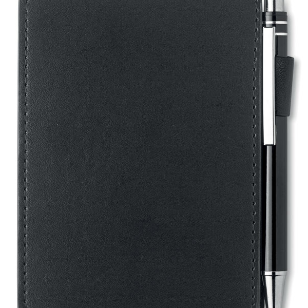 Reklamní zápisník s propiskou černý