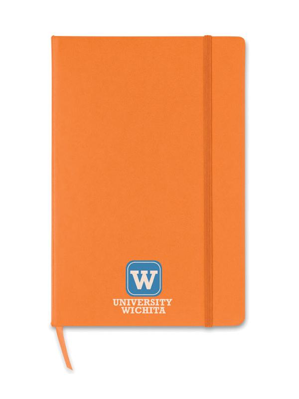 Reklamní blok A5 oranžový s potiskem SQUARED