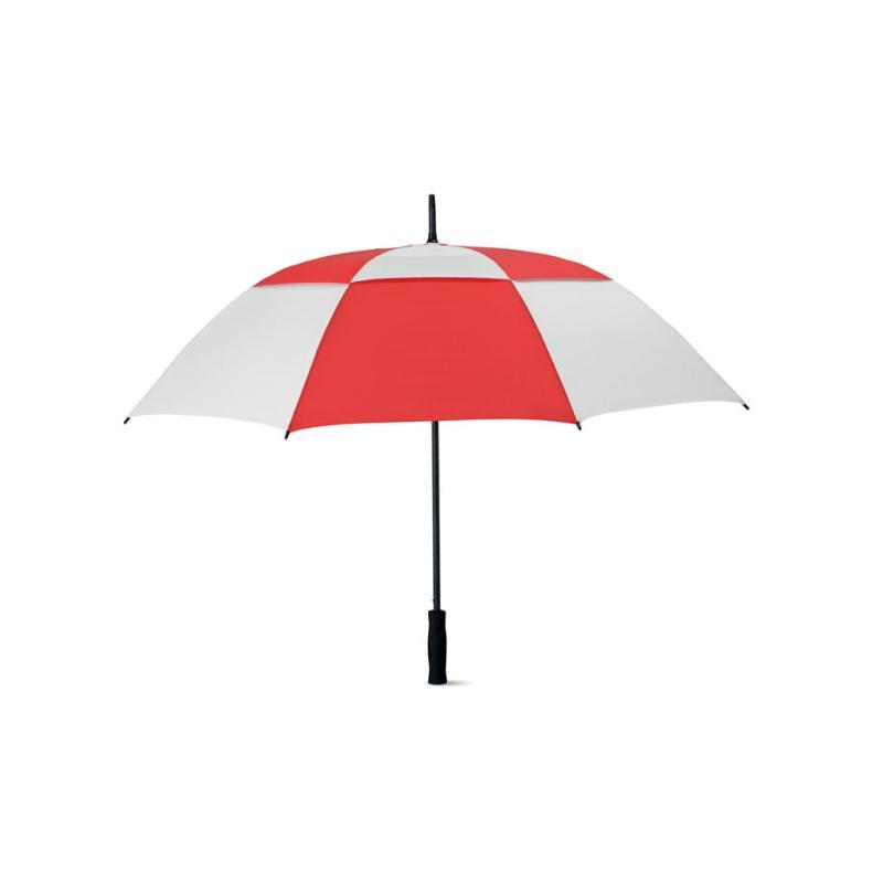 Reklamní deštník ISAY BICOLOR - červený
