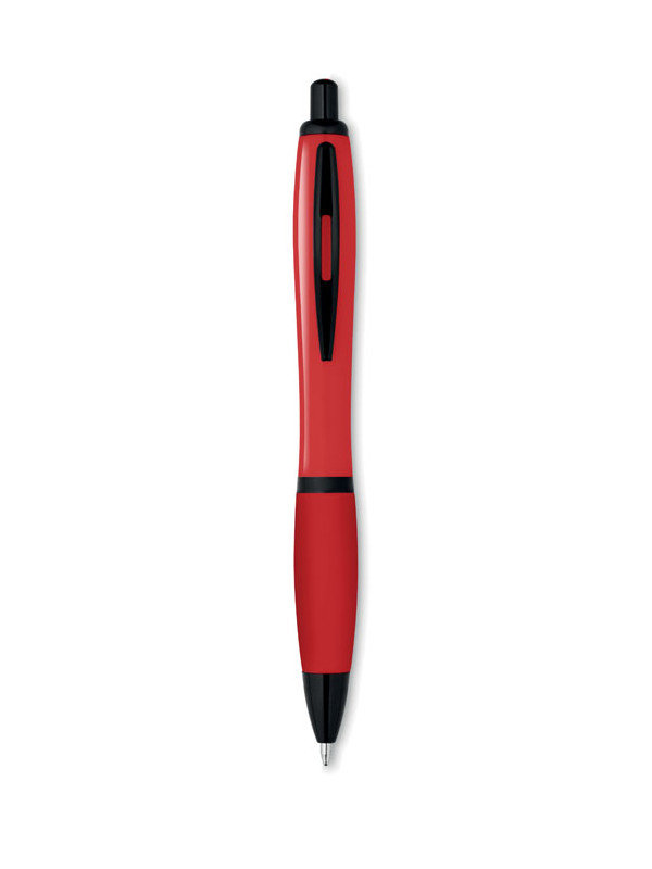 Plastové kuličkové pero RIOSOFT červená