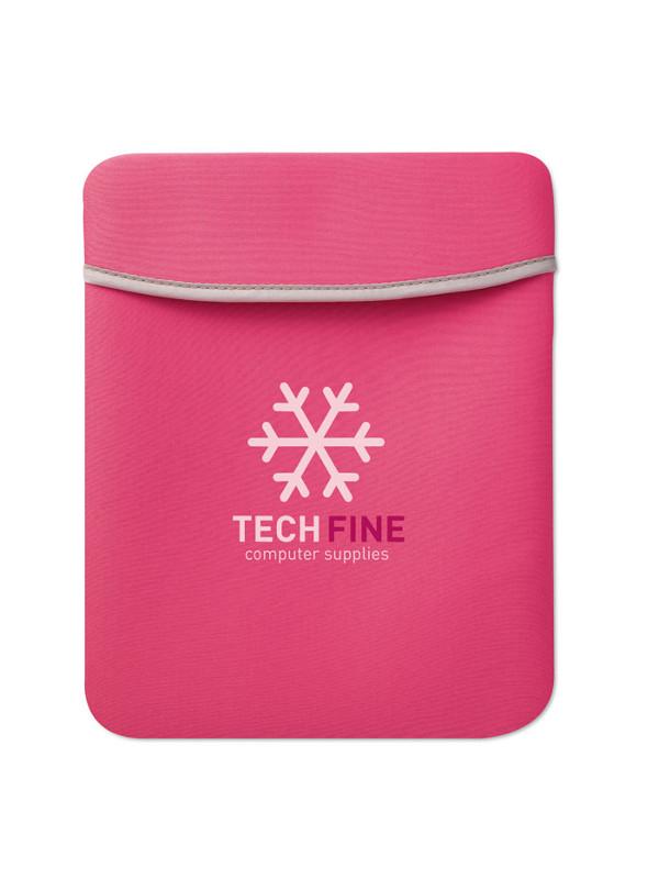 Reklamní pouzdro na tablet SILI růžové 3