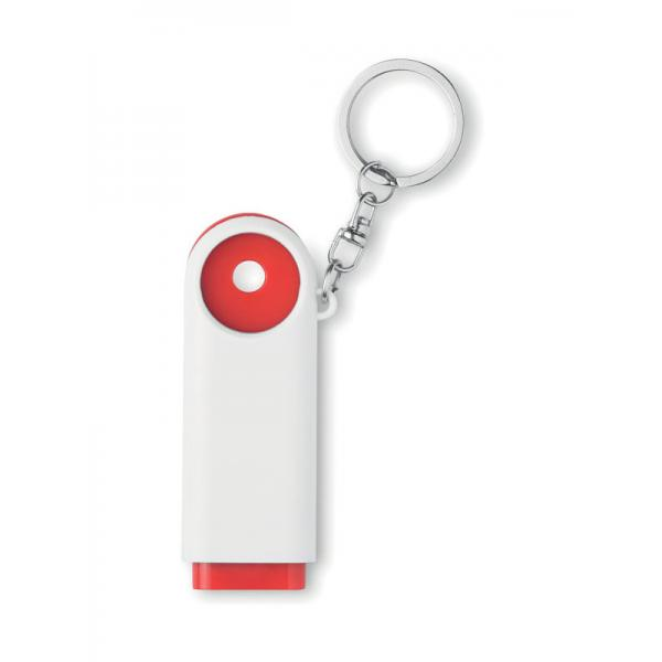 Reklamní přívěsek na klíče COMPRAS červený 1