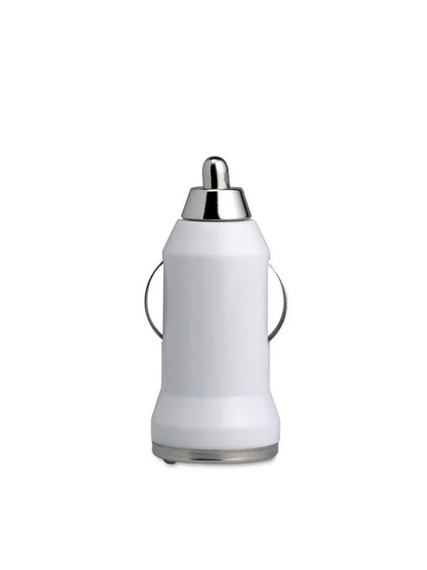 Reklamní USB nabíječka MOBICAR bílá
