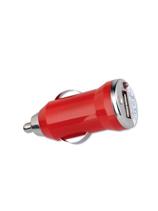 Reklamní USB nabíječka MOBICAR červená