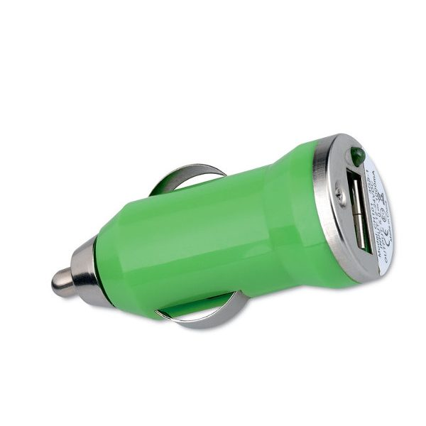 Reklamní USB nabíječka MOBICAR zelená 2