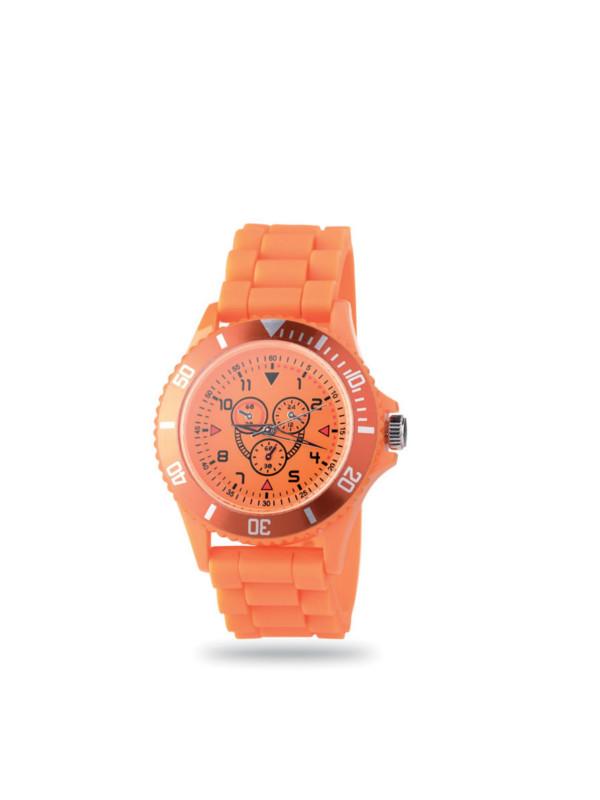 Reklamní hodinky MOTIONZONE oranžová
