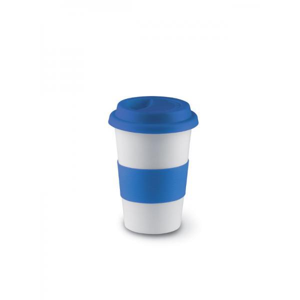 Reklamní hrnek s víčkem TRIBECA, modrá