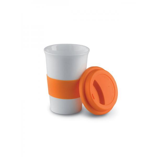 Reklamní hrnek s víčkem TRIBECA, oranžová
