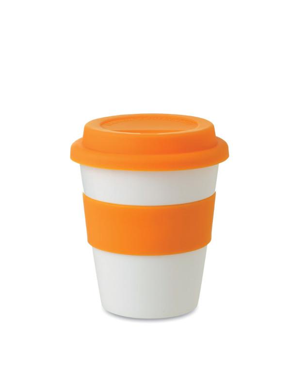 Cestovní reklamní kelímek ASTORIA oranžový
