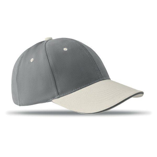 Reklamní kšiltovka SOLE CAP šedá