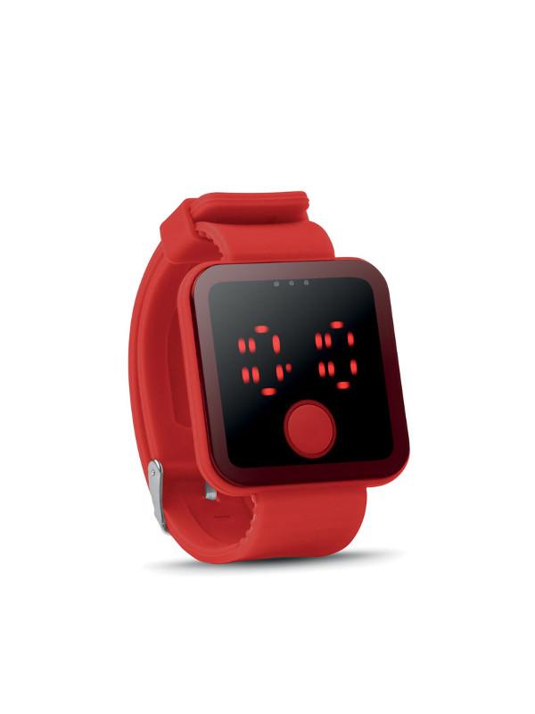 reklamní hodinky REDTIME červená