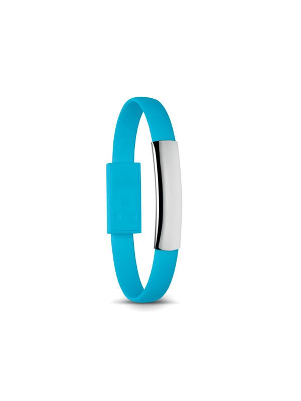Reklamní náramek s USB CABLET, modrá 1