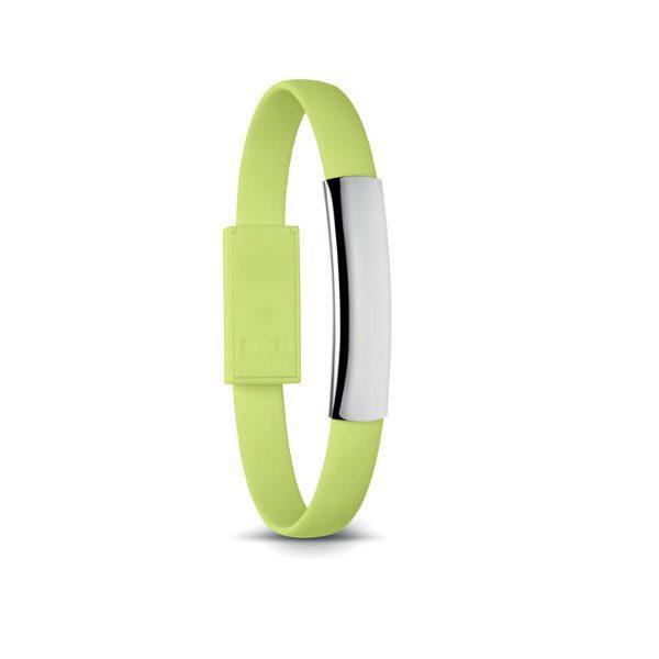 Reklamní náramek s USB CABLET, zelená 1