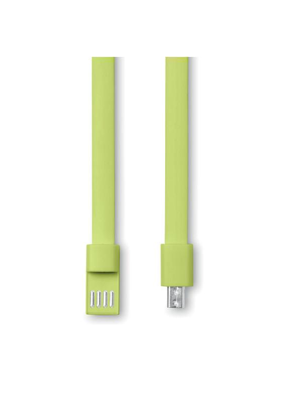 Náramek s USB CABLET, zelená 2