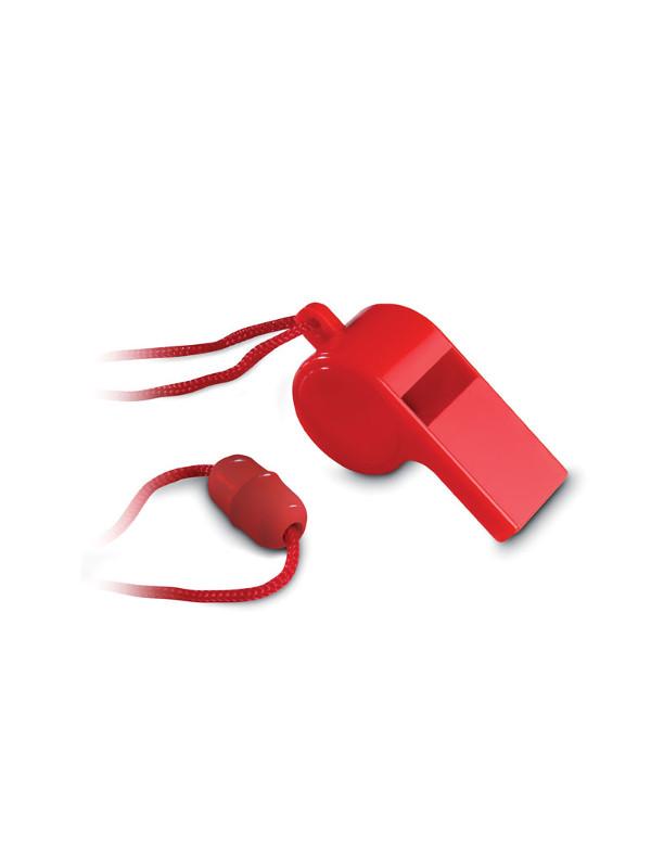 Reklamní píšťalka REFEREE, červená 1