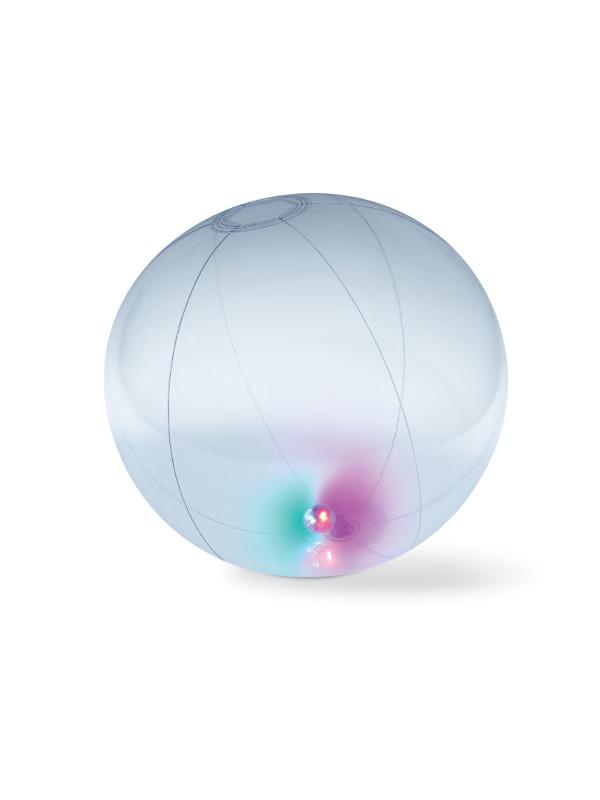 Plážový míč LIGHTY, transparent