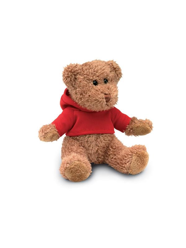 Pllyšový medvěd JOHNNY červená 1