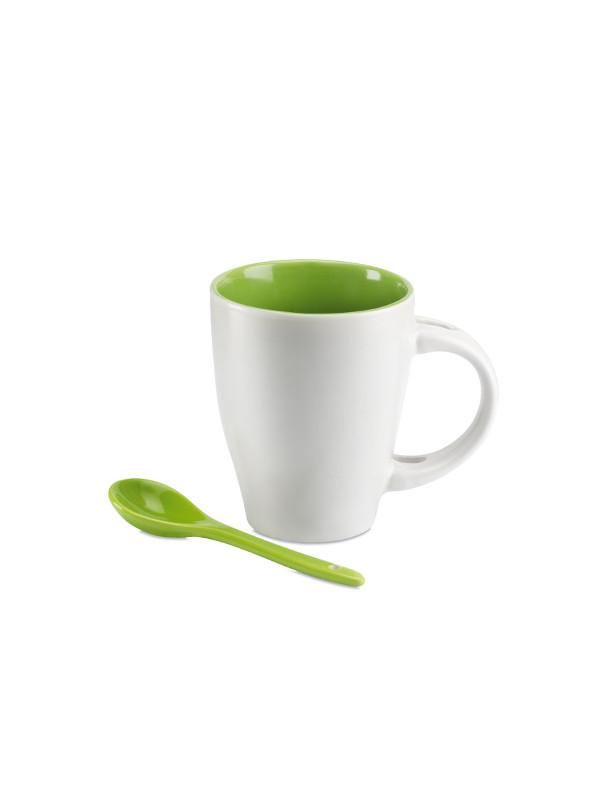 reklamní šálek s lžičkou DUAL zelená