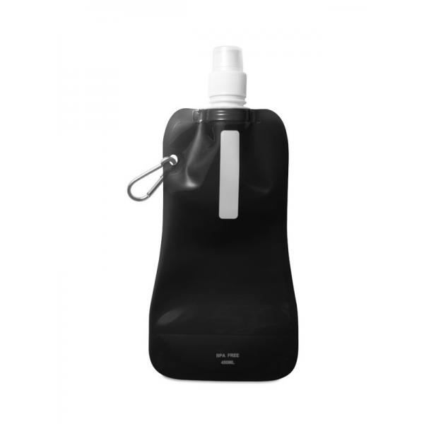 Reklamní skládací láhev na vodu GATES, černá