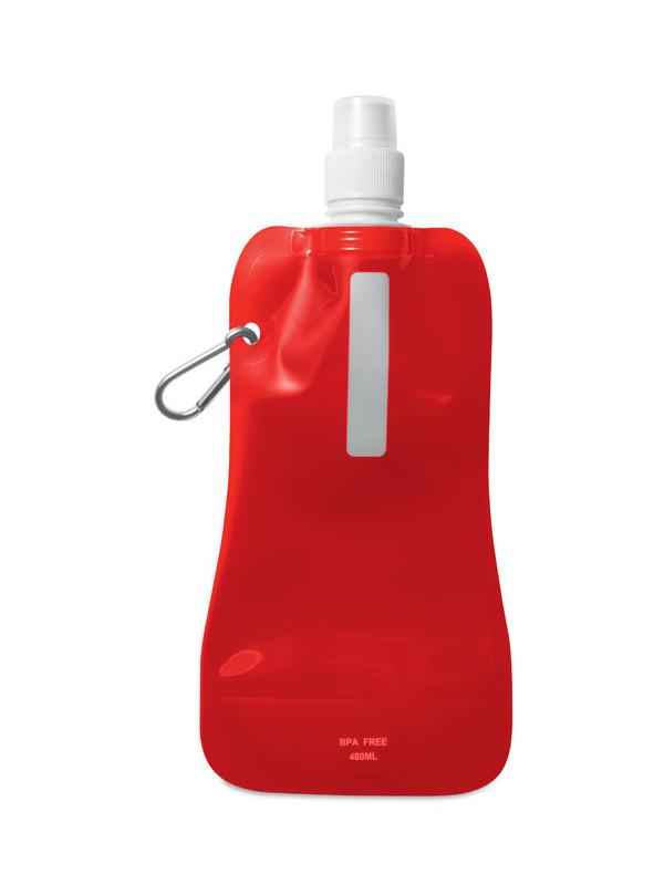 Reklamní skládací láhev na vodu GATES, červená