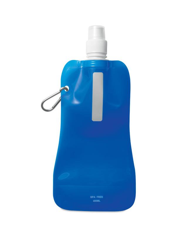 Reklamní skládací láhev na vodu GATES, modrá