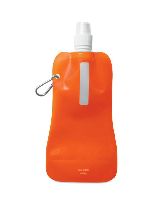 Reklamní skládací láhev na vodu GATES, oranžová