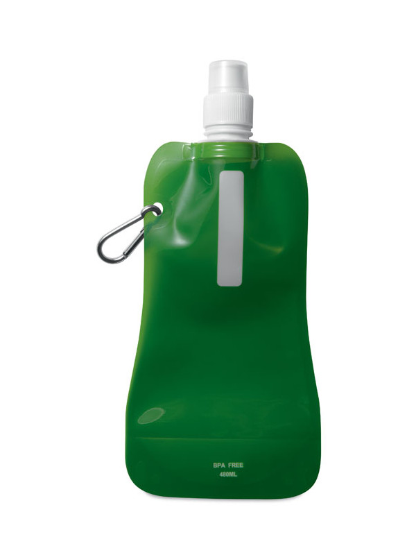 Reklamní skládací láhev na vodu GATES, zelená