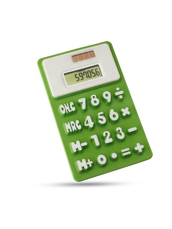 Solární kalkulačka FLEXICAL zelena 1