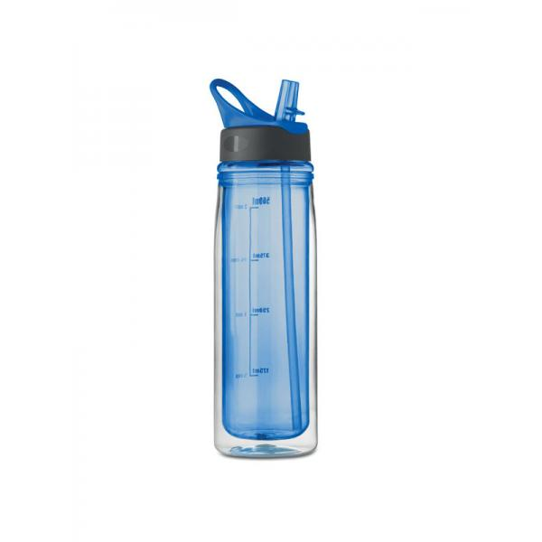 Reklamní láhev DOUBLE, modrá 1