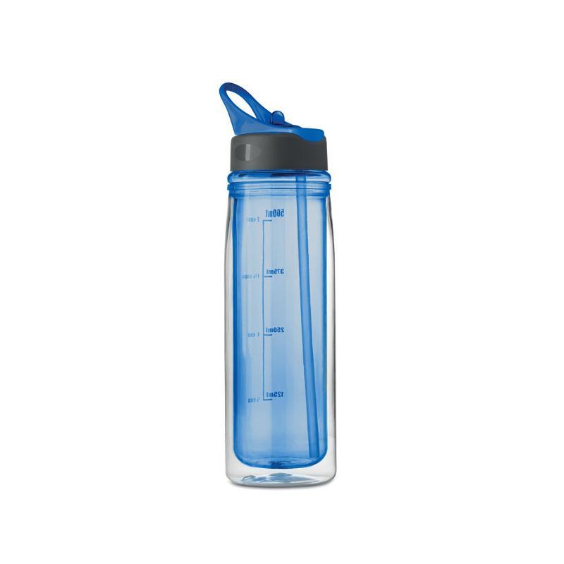 Tritanová láhev DOUBLE, modrá 2
