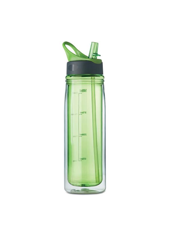 Reklamní láhev DOUBLE, zelená