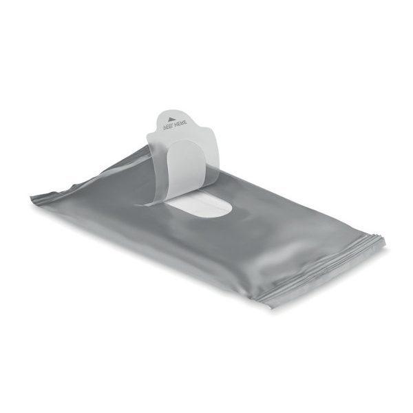 reklamní vlhčené ubrousky DELLEA stříbrná 1
