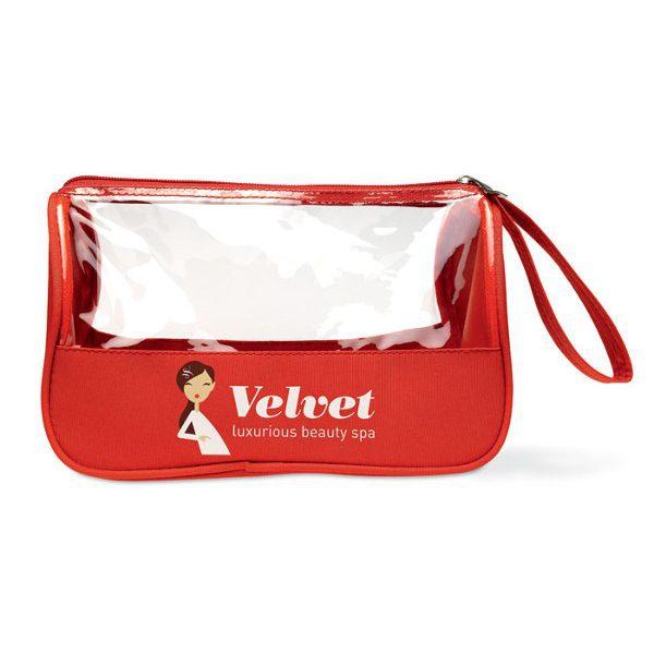 reklamní toaletní taška plas červená 1