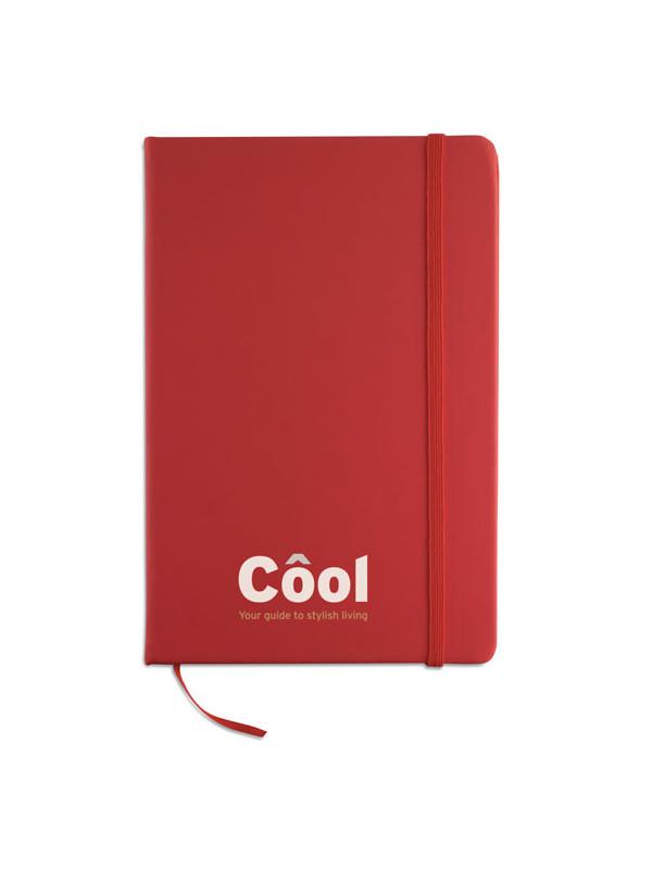 Reklamní zápisník červený ARCONOT s potiskem