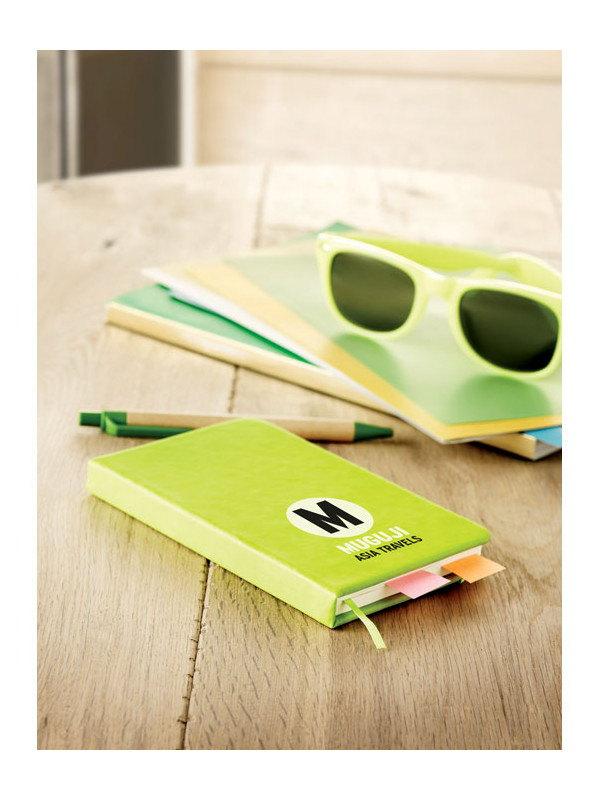 Reklamní zápisník NOTELUX zelený