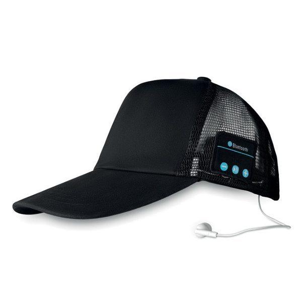 Reklamní čepice se sluchátky music cap, černá 1