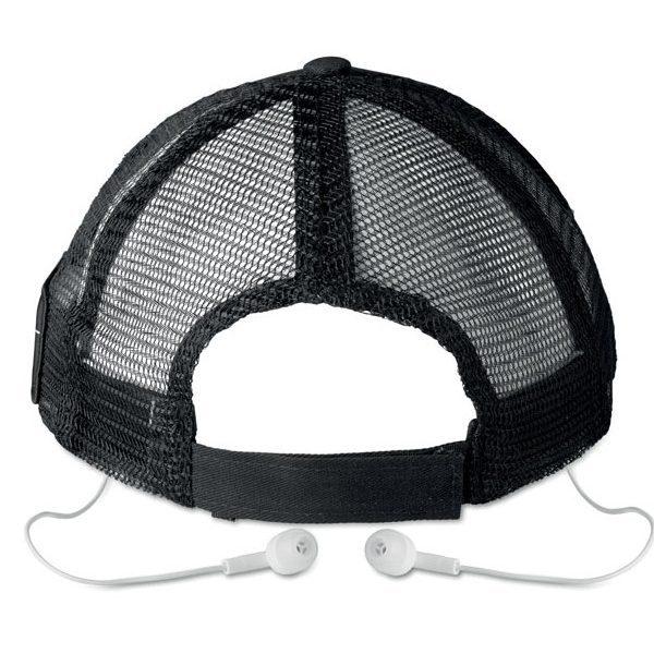 Čepice se sluchátky music cap, černá 3