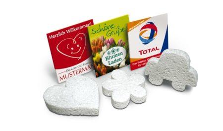 Reklamní lisované houby