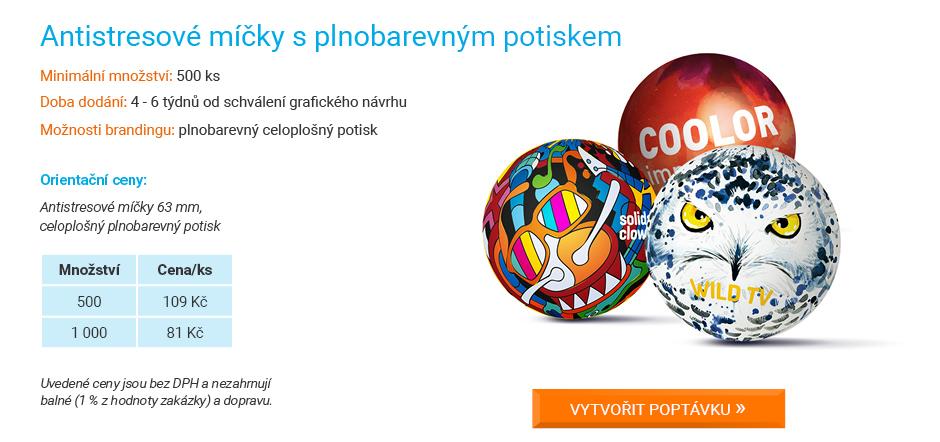 Antistresové míčky s plnobarevným potiskem