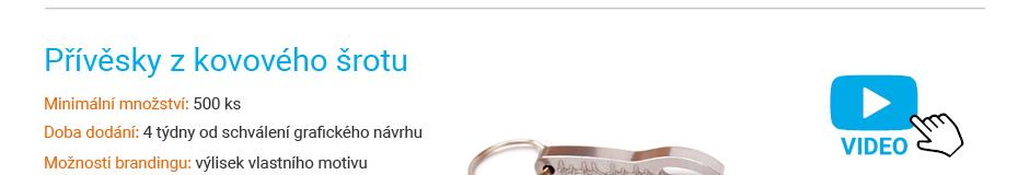 Reklamní přívěsky kovové