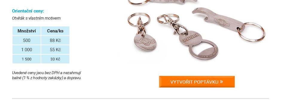Reklamní klíčenky kovové