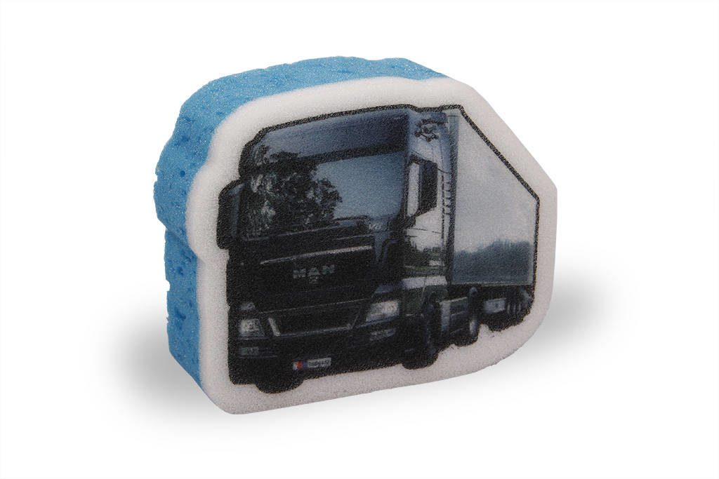 Reklamní houba kamion MAN