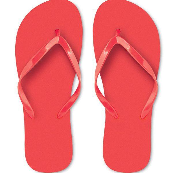 Reklamní plážové žabky HONOLULU červená