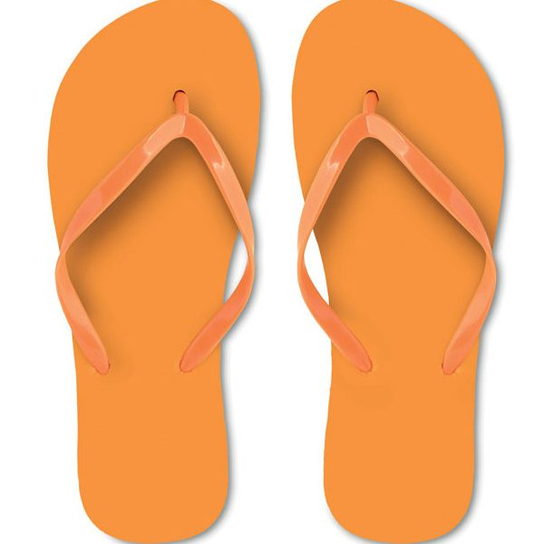 Reklamní plážové žabky HONOLULU oranžové