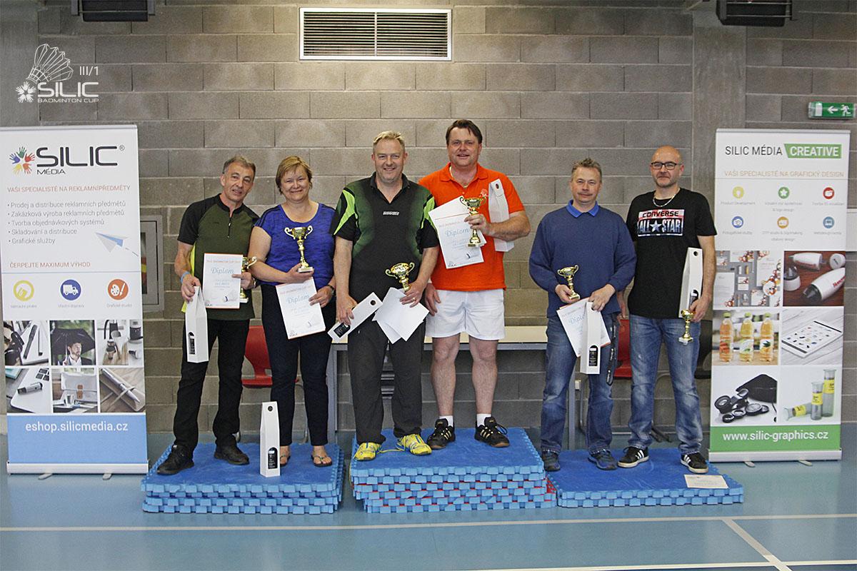 Silic Badminton Cup 2017 - Vol 4 - stupínek vítězů