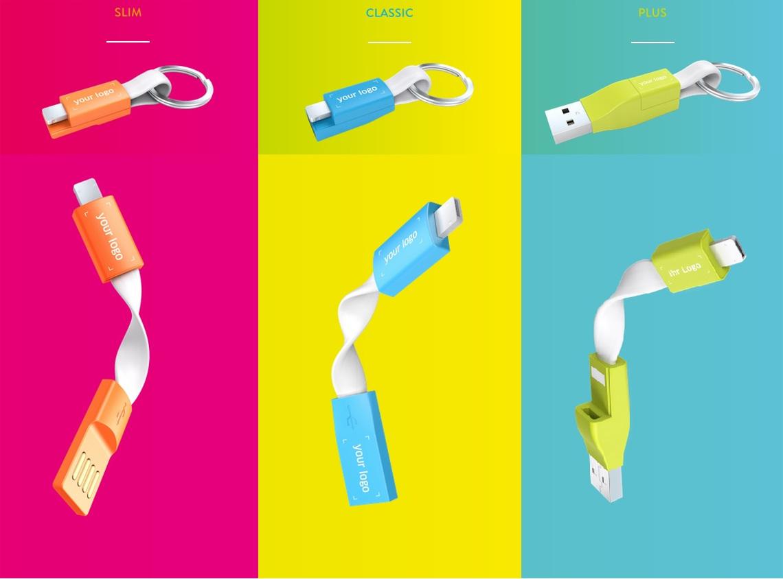 Reklamní nabíjecí kabely 2v1